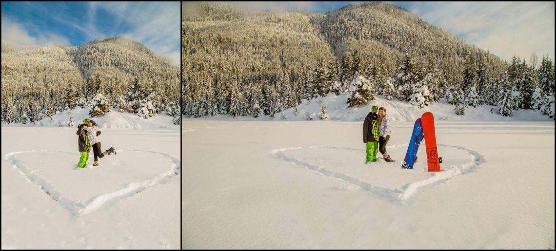 Patti Bob 23 Engaged   Gold Creek Pond with Patti and Bob