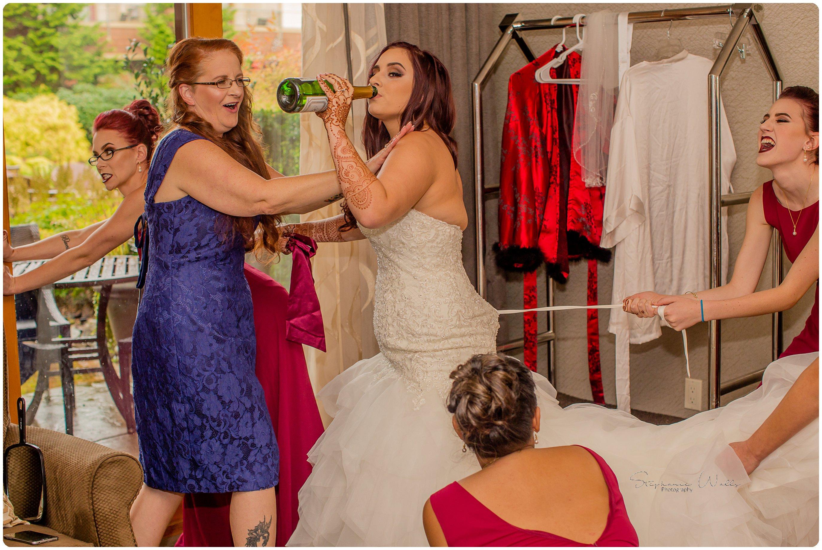 Bride Bridesmaids 073 Megan & Mo's Day 2   Willow Lodge Wedding   Woodinville, Wa Wedding Photographer