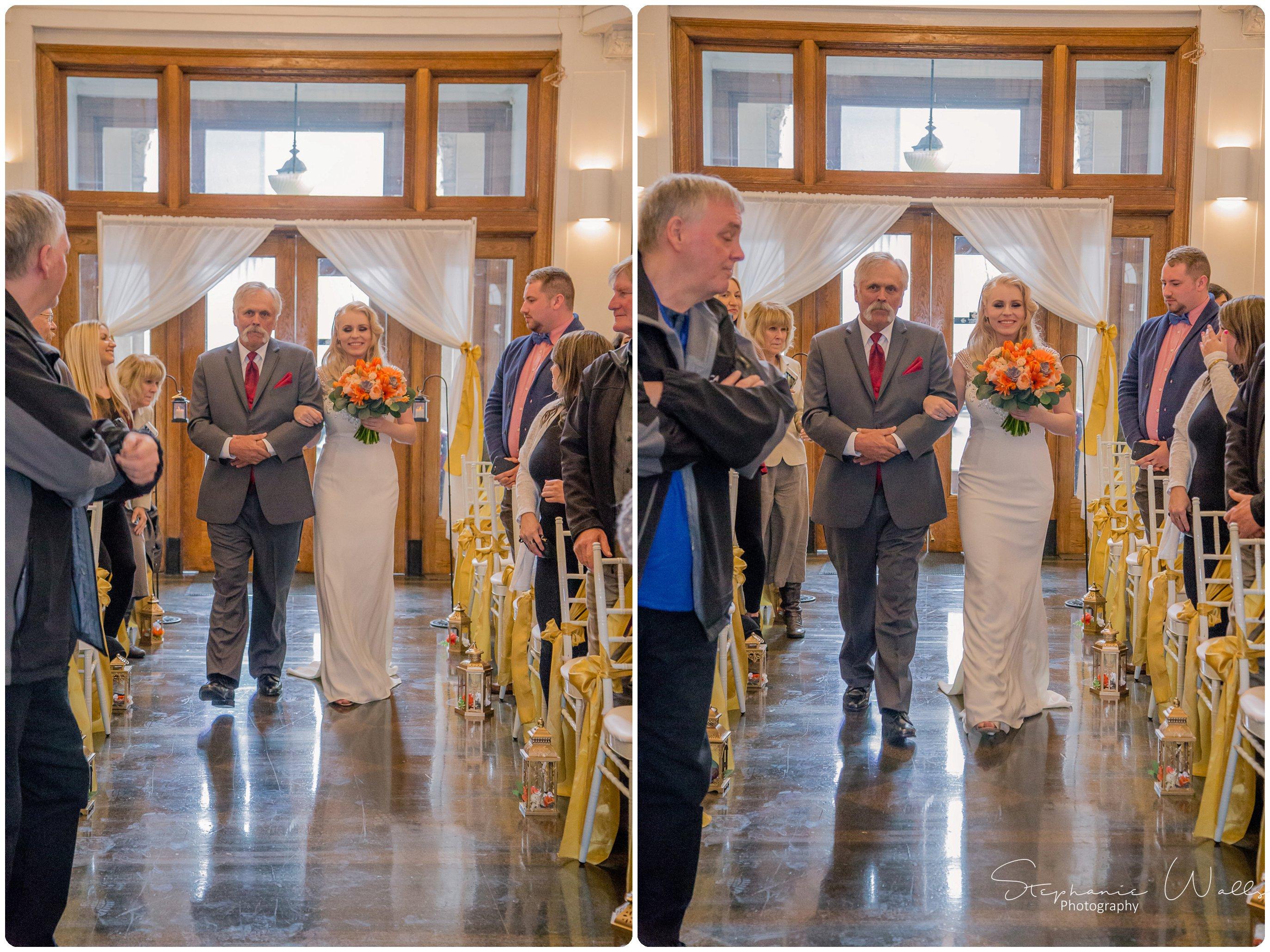 Sears Ceremony 064 The Hero & The Starlet | Monte Cristo Ballroom | Stephanie Walls Photography Weddings
