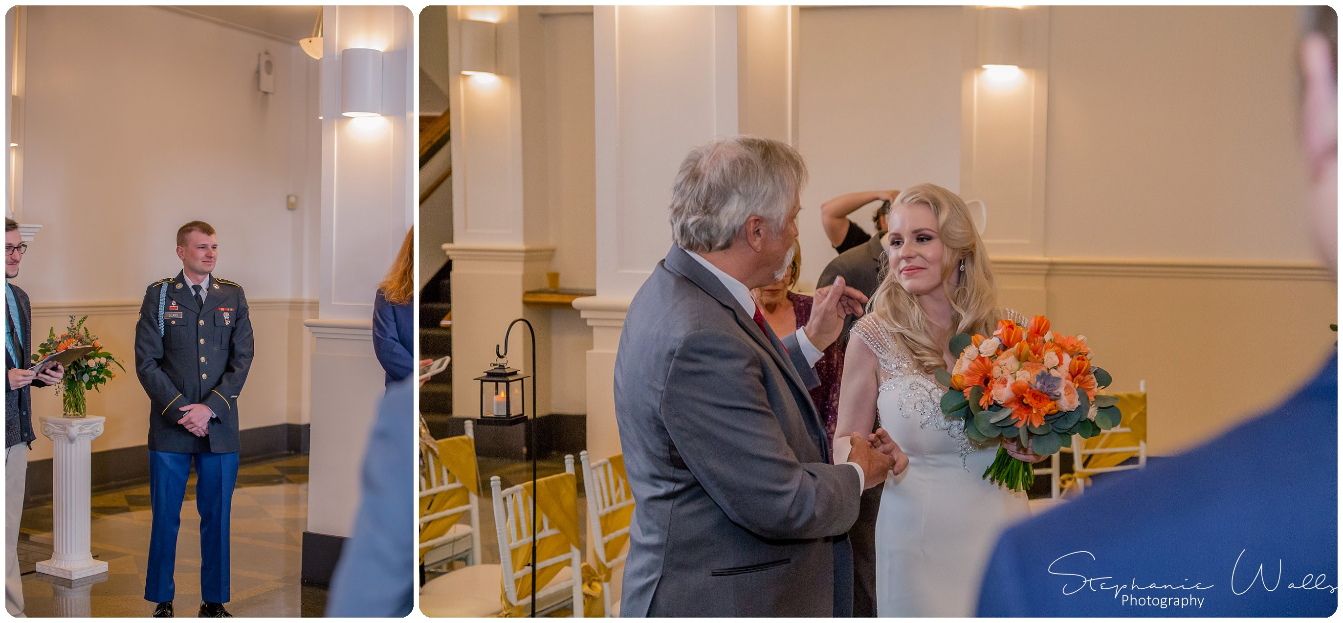 Sears Ceremony 070 The Hero & The Starlet | Monte Cristo Ballroom | Stephanie Walls Photography Weddings