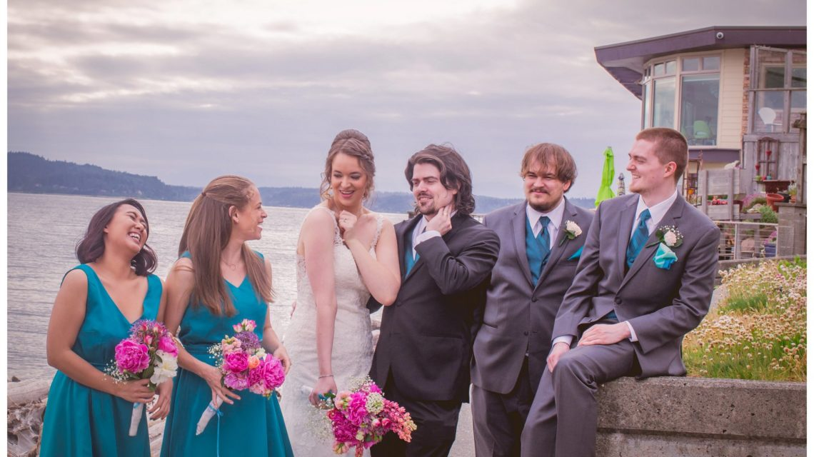 Sky full of Colors | Salty's on Alki, Seattle - Our Lady Guadalupe | Stephanie Walls Seattle Wedding Photographer
