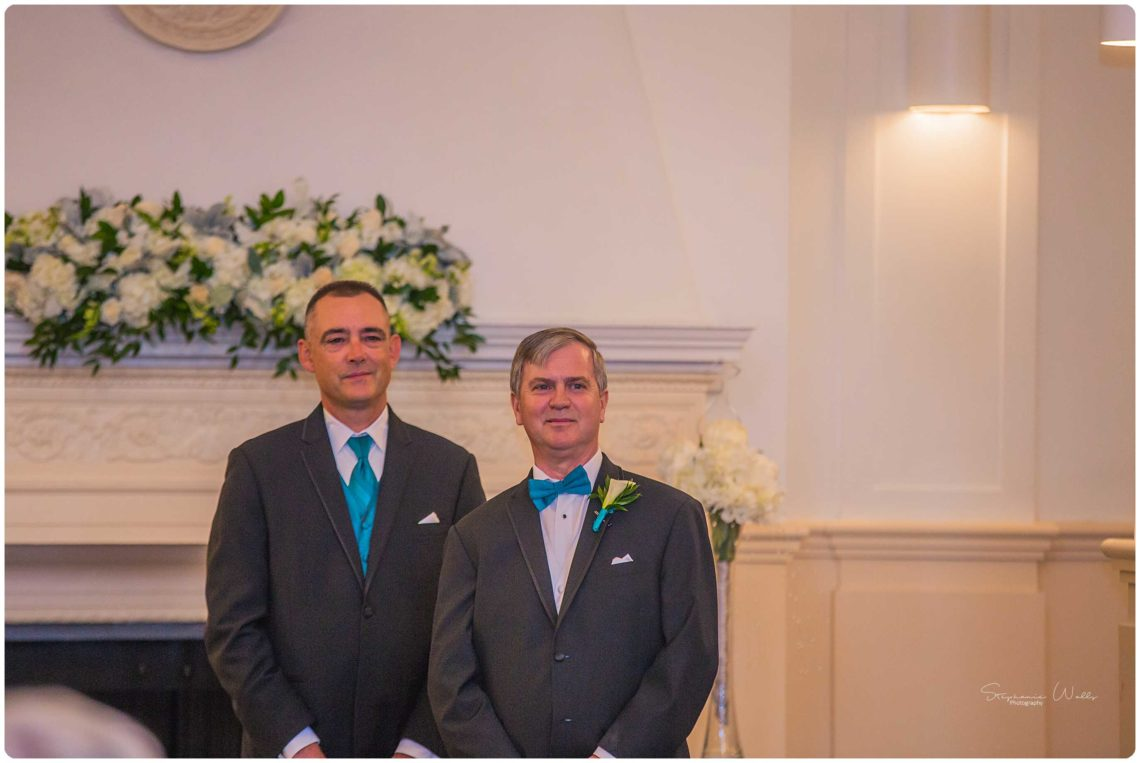 Ceremony 057 Black & Teal | Monte Cristo Ballroom Wedding | Everett Wedding Photographer