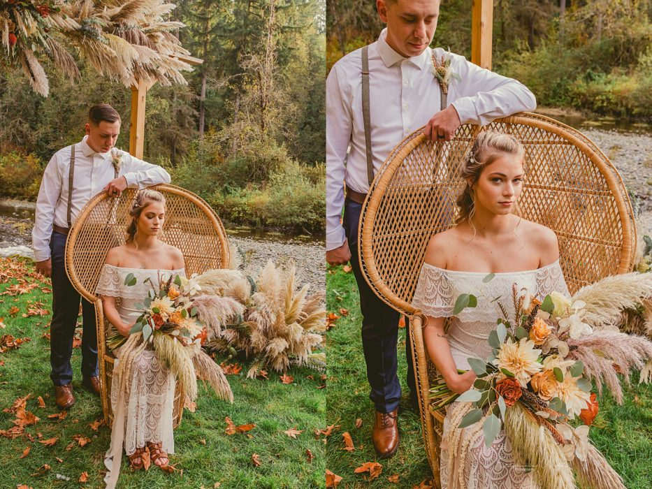 Stephanie Walls Photography 0322 933x700 Fall Boho Styled Shoot at Rivers Edge B&B Wedding Venue.