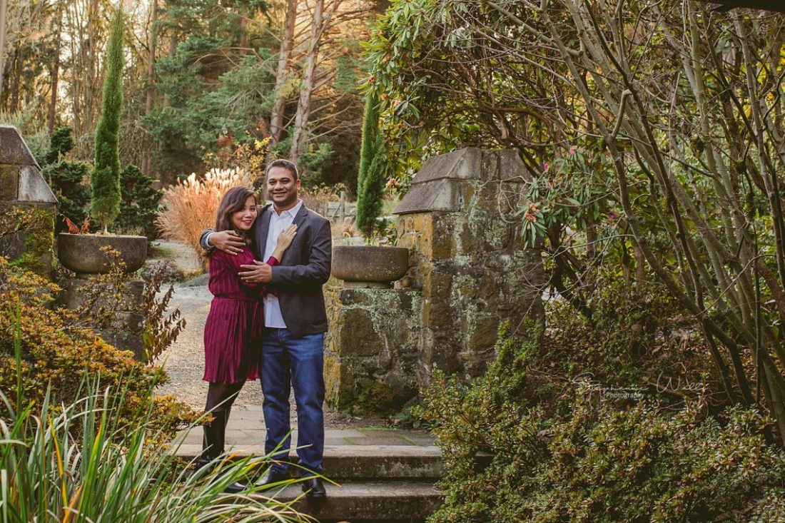 Stephanie Walls Photography 0372 scaled e1589433517478 Washington Park Arboretum Engagement with Chi and Saurav