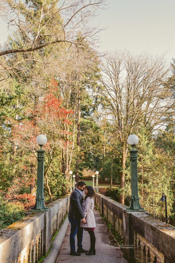 Stephanie Walls Photography 0377 scaled Washington Park Arboretum Engagement with Chi and Saurav