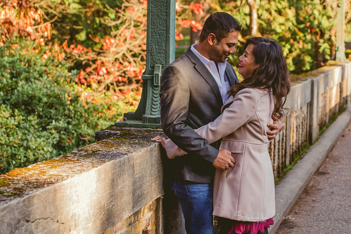Stephanie Walls Photography 0378 scaled Washington Park Arboretum Engagement with Chi and Saurav