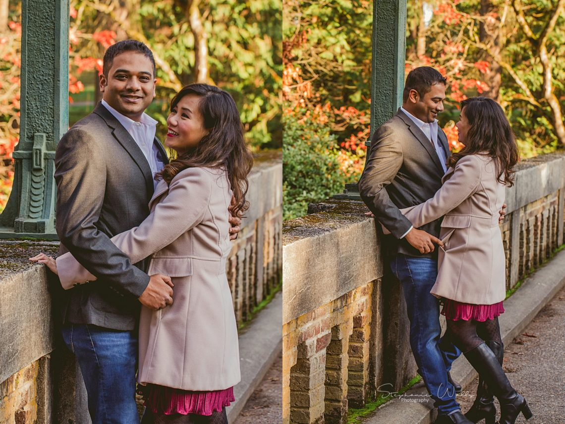 Stephanie Walls Photography 0379 scaled Washington Park Arboretum Engagement with Chi and Saurav