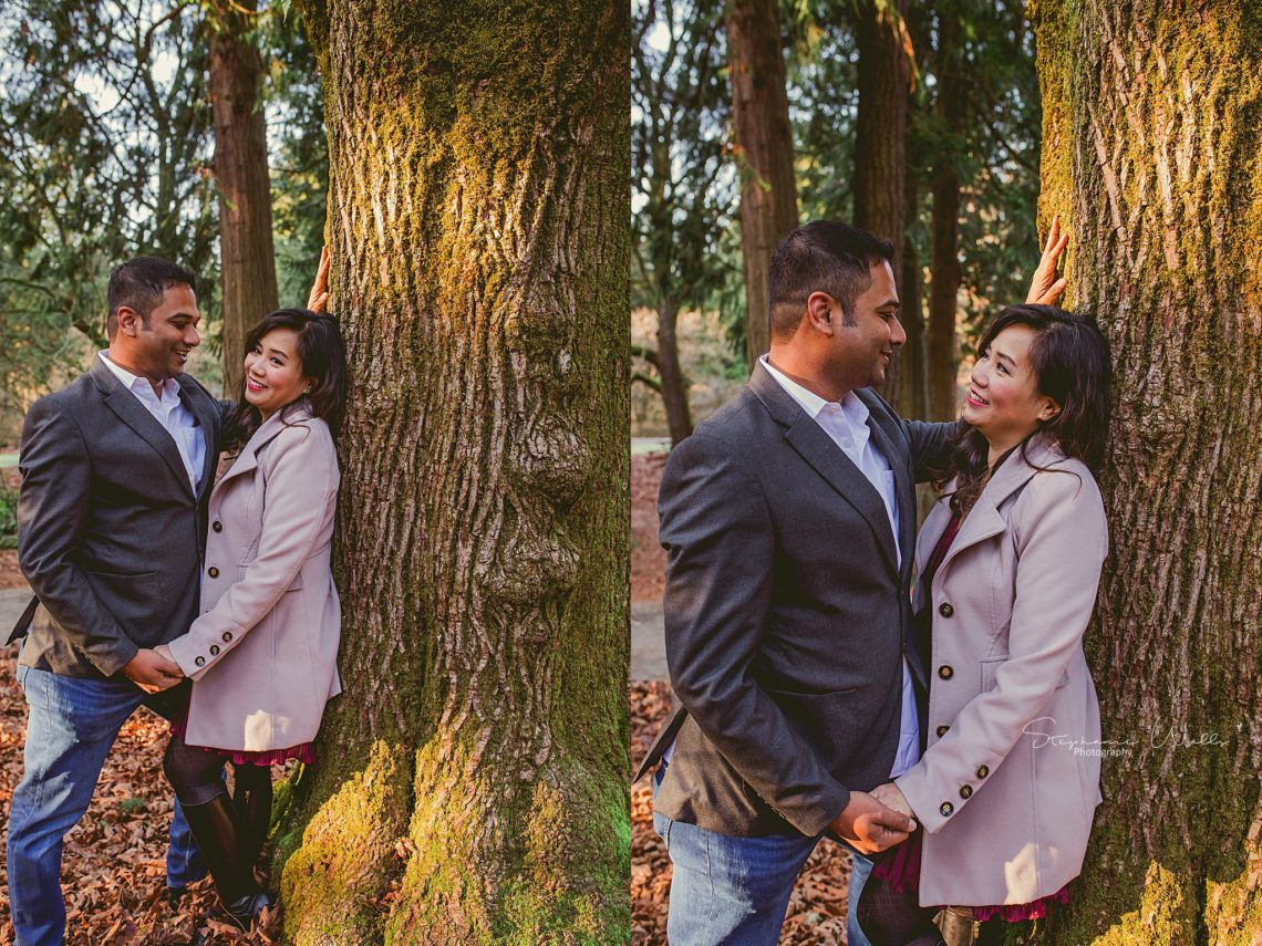 Stephanie Walls Photography 0390 scaled Washington Park Arboretum Engagement with Chi and Saurav