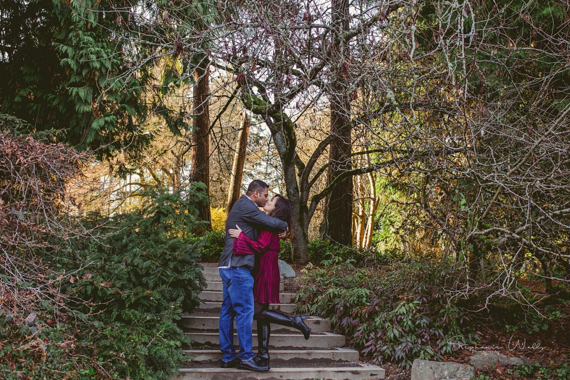 Stephanie Walls Photography 0394 scaled Washington Park Arboretum Engagement with Chi and Saurav